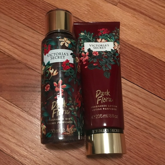 c5cec77812 NWT Dark Flora Full Size VS lotion and spray